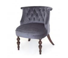 Кресло Бархат (темный тон / 36 - голубовато-серый)