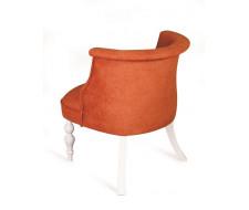 Кресло Бархат (эмаль белая / G08 - морковный)