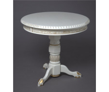 """Кофейный стол """"Милорд-d70"""" (1013+патина золото) Слоновая кость"""