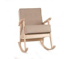 Кресло-качалка РЕТРО (беленый дуб / 03 - бежевый)