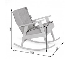 Кресло-качалка РЕТРО (беленый дуб / 08 - розовый)