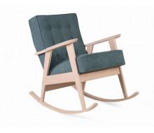 Кресло-качалка РЕТРО (беленый дуб / RS 29 - бирюзовый)