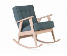 Кресло-качалка РЕТРО (беленый дуб / 09 - бирюзовый)