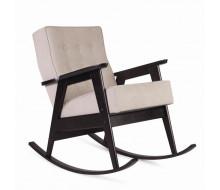 Кресло-качалка РЕТРО (венге / 02 - светло-серый)