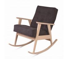 Кресло-качалка РЕТРО (беленый дуб / 05 - коричневый)