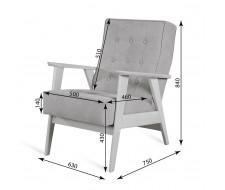 Кресло РЕТРО (венге / 11 - темно-серый)