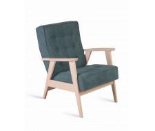 Кресло РЕТРО (беленый дуб / 09 - бирюзовый)