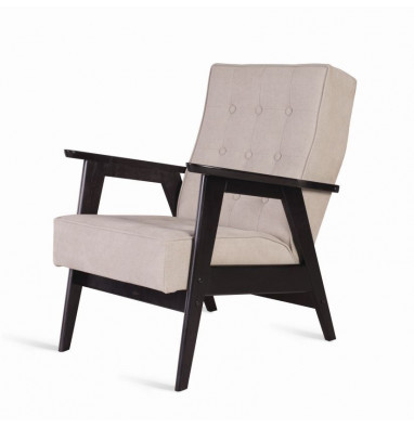 Кресло РЕТРО (венге / 02 - светло-серый)