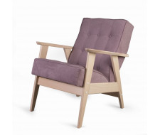 Кресло РЕТРО (беленый дуб / 08 - розовый)