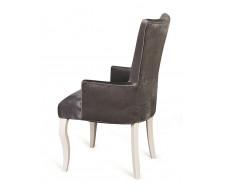 Кресло Виктория (эмаль белая / 36 - голубовато-серый)