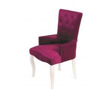 Кресло Виктория (эмаль белая / 26 - темно-розовый)