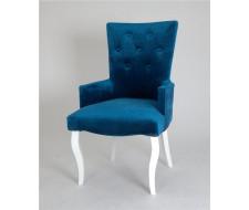 Кресло Виктория (эмаль белая / 34 - королевский синий)