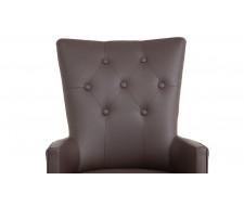 Кресло Виктория (темный тон / кожзам 1 шоколад)