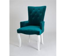 Кресло Виктория (эмаль белая / 23 - изумрудный)
