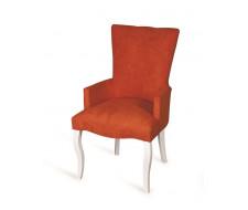 Кресло Виктория (эмаль белая / G08 - морковный)