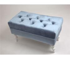 Банкетка Виктория (эмаль белая / 9 - небесно-голубой)