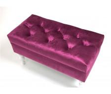 Банкетка Виктория (эмаль белая / 26 - темно-розовый)