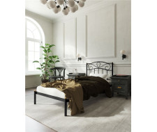 """Кровать """"Глэдис"""" без изножья (90х200/ноги металл/цвет Черный)"""