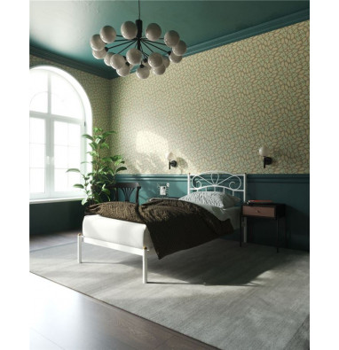 """Кровать """"Глэдис"""" без изножья (90х200/ноги металл/цвет Белый)"""
