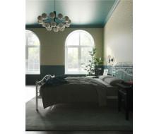 """Кровать с изножьем """"Глэдис"""" (140х200/ноги металл/цвет Белый)"""