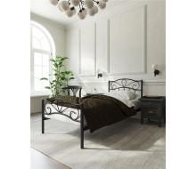 """Кровать с изножьем """"Глэдис"""" (90х200/ноги металл/цвет Чёрный)"""