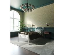 """Кровать с изножьем """"Глэдис"""" (90х200/ноги металл/цвет Белый)"""