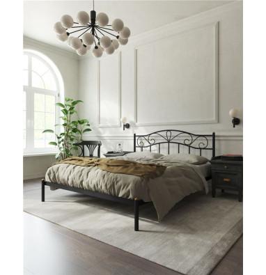 """Кровать """"Глэдис"""" без изножья (160х200/ноги металл/цвет Чёрный)"""