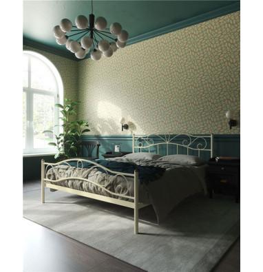 """Кровать с изножьем """"Глэдис"""" (120х200/ноги металл/цвет Бежевый)"""