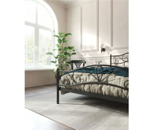 """Кровать с изножьем """"Глэдис"""" (120х200/ноги металл/цвет Чёрный)"""