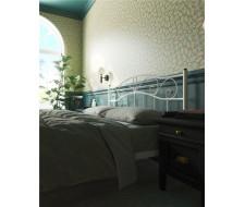 """Кровать с изножьем """"Глэдис"""" (120х200/ноги металл/цвет Белый)"""