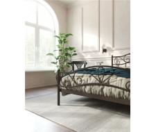 """Кровать с изножьем """"Глэдис"""" (160х200/ноги металл/цвет Коричневый бархат)"""