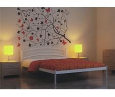 Кровать двуспальная ЭКО+ (140х200/металлическое основание) Белый