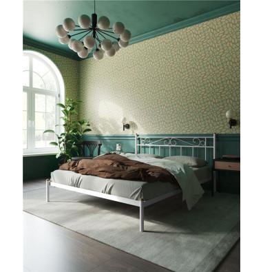 """Кровать """"Франческа"""" без изножья (120х200/ноги металл/цвет Белый)"""