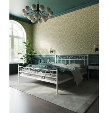 """Кровать """"Франческа"""" с изножьем (120х200/ноги металл/цвет Белый)"""