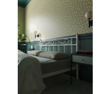 """Кровать с изножьем """"Франческа"""" (160х200/ноги металл/цвет Белый)"""