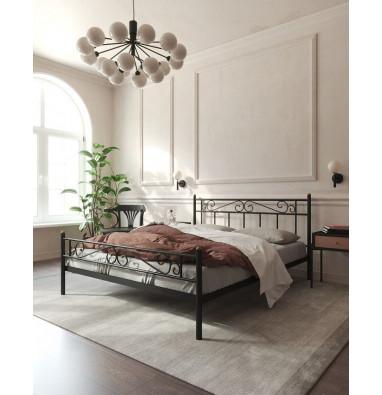 """Кровать """"Франческа"""" с изножьем (140х200/ноги металл/цвет Черный)"""