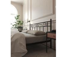 """Кровать с изножьем """"Франческа"""" (160х200/ноги металл/цвет Чёрный)"""