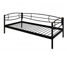 Кушетка Аура (90х200/металлическое основание) Черный
