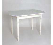 Стол обеденный ЕР-833 (Белая нить (2314) / ноги Белые точеные/кромка+царги-белые)