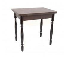 Стол обеденный ЛС-831 (столешница Кожа шоколад 8513/ноги точеные Черные)