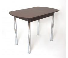 Стол обеденный ЕР-833 (1641Песок/ ноги Хром/кромка+царги-Венге)