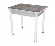 Стол обеденный ЛС-831 (пластик 2047/ ноги Хром/кромка+подстолье серый)