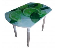 Стол обеденный 833-С (Лайм (ЧС-01) / ногии Хром) фото печать