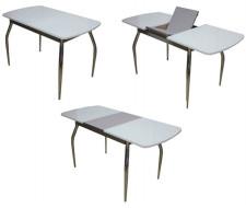 Стол НАДИА ПО (Белый/стекло)