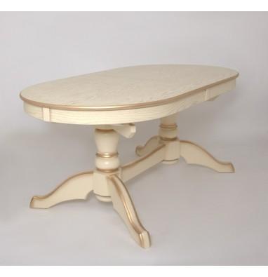 Стол Макси (цвет:Слоновая кость + сусальное золото)