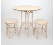 Стол обеденный Зальцбург-0080 (беленый дуб)
