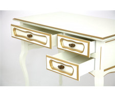 Стол 22 (Слоновая кость + золотая патина) малый