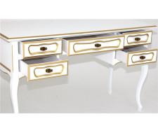Стол 25 (Белый + золотая патина) большой 269