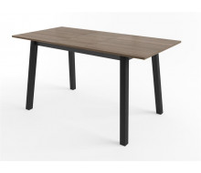 Стол Тирк 110 Дуб серый/Черный