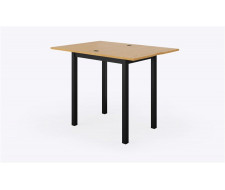 Стол раскладной Джази 50(100) х 70 см, Дуб/Черный